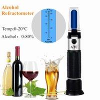 El omple alkol test cihazı 0-80% alkol bira şeker refraktometre ATC şarap ölçüm aracı 35% kapalı