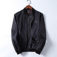 Erkek Mont Ceket Fermuar 2021 Sonbahar Kış Trendy Moda Tasarımcısı Erkekler Giyim Streetwear Coat Koşu Spor Mektup Baskı Uzun Kollu Rüzgarlık Ceketler M-3XL