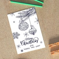 Greeting Cards S Style Christmas Card Holiday Blessing 6 Pieces In A Case With Envelope