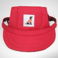 Dog Apparel 1pcs Summer Hats Outdoor Puppy Cat Travel Pet Hat Breathable Baseball Cap Accessories For Small Dogs Sun Canvas Caps