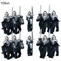 Mini 10PCS Knights Dark Sauron Battle Five Armies with Sword Rohan Horse Blocks Kids Toy Medieval Group LegoINGLYS