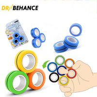 Anti-stress Finger Magnetic Rings Decompression Fidget Toys Stress Relief Spinner For Adults Kids Christmas Novelty Gifts 3Pcs Set 100X
