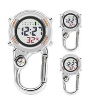 Outdoor Gadgets 65% Discounts ! Digital Carabiner Watch Anti-oxidation Resistance Anti-scratch Backpack Belt Pocket Clip On For