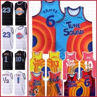 23 Space Tune Squad Lebron 6 James Movie Basketball Jersey 2021 7 R.Runner 1 Bugs 10 Lola! Taz 1/3 tweety 2 d.duck theseys ncaa