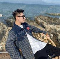 21SS Designer Designer Giacche Lettera Denim Jacquard Christian Doppi Lettere vestiti Streetwear Cappotti Cappotti Capispalla con cappuccio Uomo Abbigliamento Abbigliamento Cotone