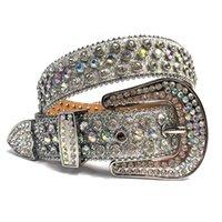 Fashion Luxury Strap Diamond Belt Western Crystal Studded Belt Cowgirl Cowboy Belt For Women Men Jean Cinto De Strass 210918