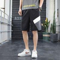 Shorts masculinos verão placa de moda respirável e confortável macho casual tamanho grande fitness corrida calças homens