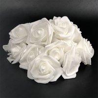 10 stücke-100 stücke weiß pe schaum rose blume kopf künstliche rose für haus dekorative blume kränze hochzeitsfeier diy dekoration 422 v2