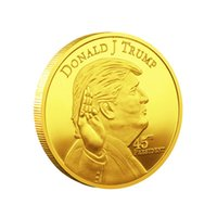 200pcs President Donald- Trump Gold Coin Arts & Crafts Plated...