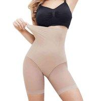 Shaper Women's Seamless Plus Size High Waist Control Panties Shapewear Lår Slimmer Body Smooth Slip Shorts Under Kjol