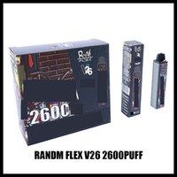 ORIGINAL QST RANDM FLEX V26 Kit de dispositivo de cigarro descartável 2600 Puffs 1000mAh Bateria Personalizada 8.5ml Vape Vape Vape Vapor Pen Bar Mais 100% Authentic Grande Capacidade
