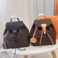Montsouris 배낭 지갑 지갑 모노그램 캔버스 더플 가방 가죽 꽃 편지 Womensand Mens Luxurys 디자이너 가방
