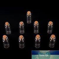 10 stücke Wunschflaschen winzige kleine leere klare Korkglas-Flaschenfläschchen für Hochzeitsfeiertagsdekoration Weihnachtsgeschenke 16x35mm