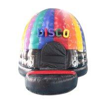 4x4x5m PVC Commercial Grade Disco Trampoline Abóbada Inflável Bounce Casa Bouncy Castelo para Adulto e Crianças