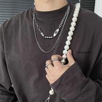 Double Layered Necklace Wild Hip Hop West Coast High Street Cuban Chain Original Design Titanium Steel Accessories
