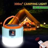 Solar Lamps 4800mAH Rechargeable LED Light Remote Control Charge Lantern Portable Emergency Night Market Lamp Outdoor Camping Home
