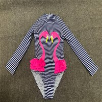 Girls One-Piece Swimsuit Cute Baby Swimwear Striped Comfortable Casual Bikinies One Animal Pattern Set Kids Suit Simplicity Swim 1830 Z2