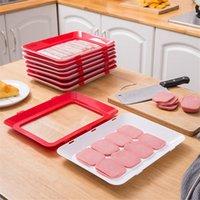 Organisation de stockage de cuisine 6pcs Creative Creative Plaque de préservation du vide empilable Frais de maintenance Réfrigérateur Plaque de service Organisateur