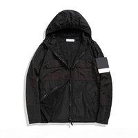 topstoney 2020 konng gonng nueva primavera y otoño chaqueta delgada marca de moda abrigo casual rompevientos metal nylon material
