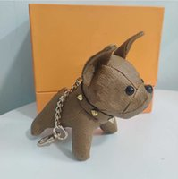 Best Selling Keychains Fashion Key Buckle Purse Pendant Bags Dog Design Doll Chains Key Buckle Keychain 6 Color Top Quality