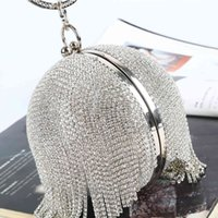 Ball Dinner Pack Cross-border drill evening dress party hand-held lady bag tasser with bracelet party package