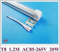 Integrado (todo en uno) T8 LED Lámpara de luz Lámpara de luz LED Bombilla de tubo fluorescente 1200mm SMD2835 20W 2400LM AC85V-265V CE PC de aluminio