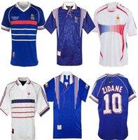 1998 فرنسا ريترو لكرة القدم الفانيلة 1996 # 10 زيدان # 12 هنري مايوه دي القدم 2006 تايلاند جودة الزي الرسمي كرة القدم 2000 الفانيلة قميص