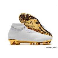 New Arrivaled White Gold Wholesale Cleats Ronaldo CR7 Original Soccer Shoes Phantom VSN Elite DF FG Football Boots