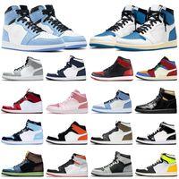Mode Rabatt Retro Air Jordan 1s Männer Basketballschuhe AJ1 Jumpman 1 gezüchtete Zehe Chicago Banner Schatten Frauen Herren Trainer Sport Sneakers Walking Joggen