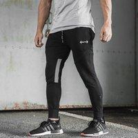 Irmãos Europeus e Americanos 2019 New Fitness Mens Sports Calças Casuais Correndo Calças de Treinamento