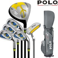 Brand POLO. Kids Clubs Junior Golf Club Set Children Graphite Carbon Shaft Lightweight for Height of 150-170CM