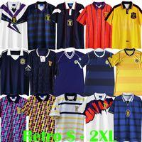 1982 1986 Copa del Mundo Escocia Scotland Camisetas de fútbol Clásico retro Colección de antigüedades vintage camisetas de fútbol STRACHAN SOUNESS McSTAY kits de fútbol