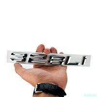 3D Araba Sticker BMW 328LI Logo Mektubu Kelime Styling Parlak Gümüş Tamir Deplasman Amblemler Oto Kuyruk Dekor Çıkartmalar