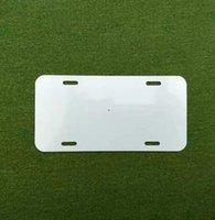 Sublimation Aluminium-Kennzeichen leeres weißes Aluminiumblech DIY thermische Übertragung Werbeplatten benutzerdefinierte logo 15 * 30 cm 4löcher NHF6089