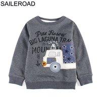 SAILEROAD Toddler Boys O neck Sweatshirts Cartoon Vehicle Printed Boys Sweatshirt for Babies Kids Long Sleeve Children T Shirts G0917