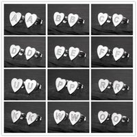 Stud Fashion Retro Stainless Steel Earrings For Women Geometric Heart 26 English Letters Jewelry Home Furnishing Accessories