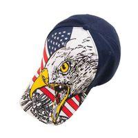 愛国者の日アメリカの国旗とイーグルプリント野球ボール帽子Ins Tiktok Kids Chidlren夏のスナップバックスポーツ屋外ビーチキャップヘッドドレスSun Hat Visor G69FBUM