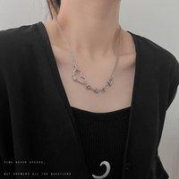 Pendant Necklaces Necklace Women Heart Woman Chain Simple Jewelry Unisex Silver Color Trendy Sweet Metal Zinc Alloy Naszyjnik
