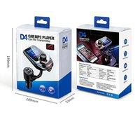 무선 블루투스 자동차 MP3 플레이어 라디오 D4 D5 송신기 오디오 어댑터 QC3.0 자동차 블루투스 FM 스피커 USB 고속 충전기 AUX LCD 디스플레이