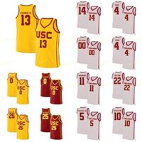 007 NCAA College USC Trojans Баскетбол Джерси 34 Victor Uyaelunmo 4 Chimezie Metu Daniel Utomi Kevin Porter JR Custom Shisted