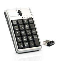 Originale 2 in Ione Scorpius N4 tastiera USB ottica del mouse ottico, tastiera numerica della cablata 19 con rotellina del mouse e del mouse per la rapida voce dei dati
