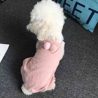 Cotton Dog Pajamas 4 Legs Pet Clothes Jumpsuit Vest Shirt With Hairball PJS Puppy Cat Pyjamas Lightweight For Small Dogs Poodle