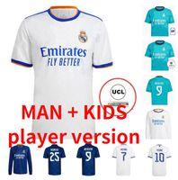 REAL MADRID 21/22 Fussball Jersey Hazard Sergio Ramos Benzem Vinicius Camiseta Football Hemden Uniformen Männer Kits Kit 2021 2022