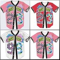Femmes Simple Brotto 3D Shirt Streetwear Hip Hop T-shirt Summer Bel Air 23 Fresh Prince Chill Flowshirt Jersey de baseball