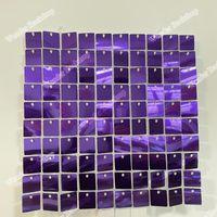 Decoración de fiesta brillante Purple Wall Glitter Sequin Cumpleaños Telón de fondo Shimmer para boda