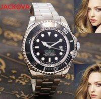 Mens Deep Sea Dwellers Watches 43mm Top Business Watch Men Chronograph Full Steel Waterproof Analog Quartz Wristwatch Male Clock