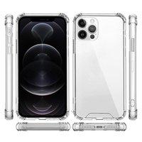 Capas de telefone à prova de choque transparente Clear Acrílico Hybrid Armor Hard Case para iPhone 12 11 Pro Xs Max XR 8 7 6 Mais Samsung S21 S30 Note20 Ultra