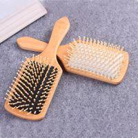 Hair Brushes Professional Comb Healthy Wood Paddle Anti-static Air Cushion Bamboo Massage Brush Hairbrush Scalp Care