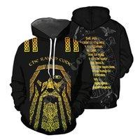 Men's Hoodies & Sweatshirts Viking Tattoo 3d Digital Printing Sweater Hoodie Jacket European And American Spring summer 2021