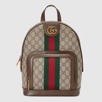 Gucci 브랜드 배낭 남성 여성용 Ophidia 최고 품질의 럭셔리 숄더 GG 가방